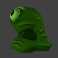 3d cartoon monster model