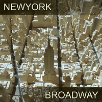 3d model of new york broadway zone