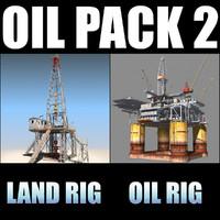 3d model oil rig derrick