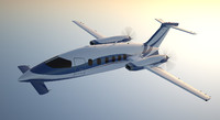 business aircraft c4d