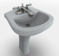 3ds max sink pedestal