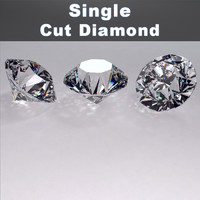 maya single cut diamond