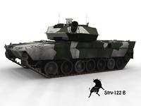 leopard winter scheme 3d model