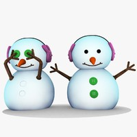 snowman unique 3d max