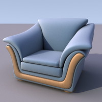 3d sofa armchair model