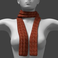fashion long neck scarf knotless