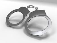 3d model handcuff