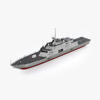 uss fort worth lcs-3 3d model