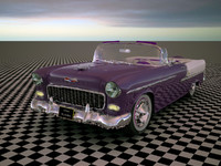 3d model 1955 bel air convertible