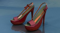3d model of womens heels