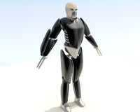 humanoid warrior animation 3d obj