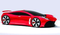 3d model 4 door sports car