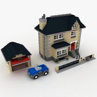 lego 4954 villa house 3ds