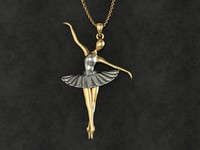 ballet pendant 3d model