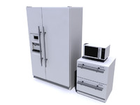 appliance fridge draw 3d model