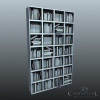 Bookcase Filled with Books and Magazines