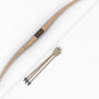 arrows longbow bow long obj