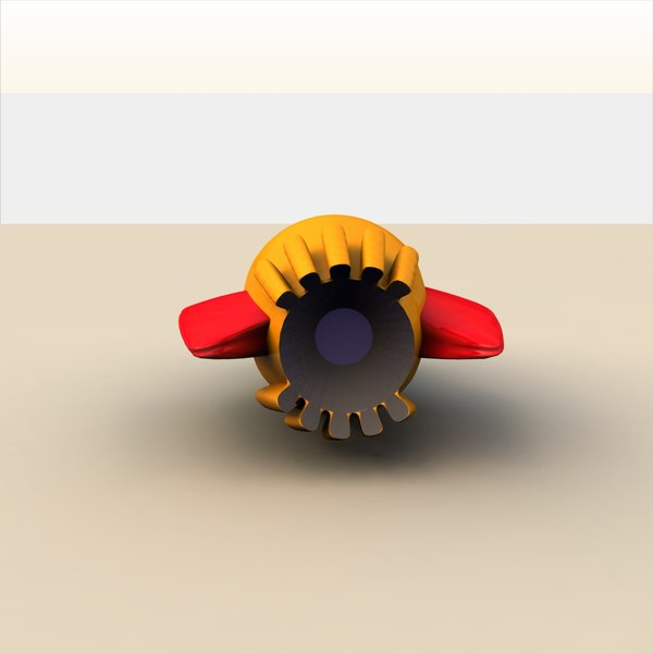 rocket toy 3d 3ds - Toy Rocketship D... by MP Design