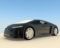 3d model futuristic concept sports car