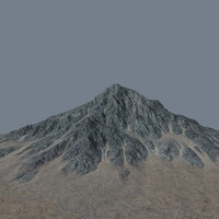 mountainous terrain 3d model