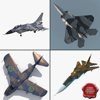 Jet Fighters Rigged Collection 3