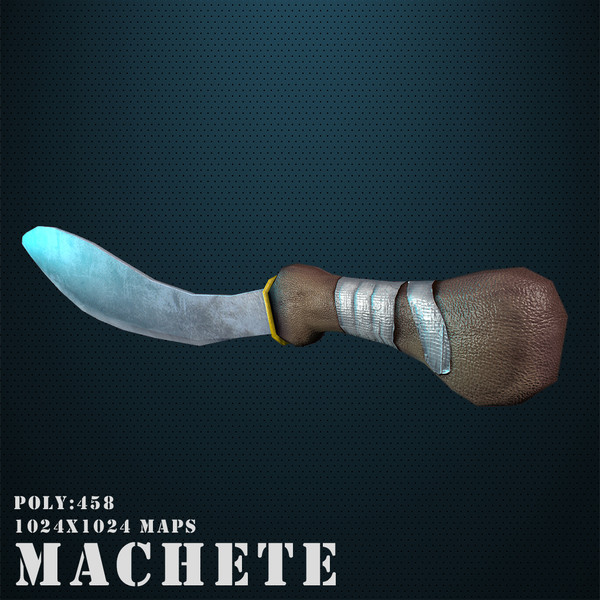 obj machete games weapon - Machete... by Game geek