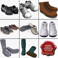 3d men shoes v14