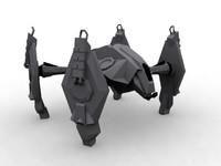 4 walker mech 3d model