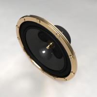 3dsmax 12inch speaker