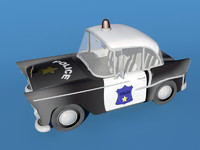 3ds max toon police car