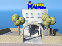 3d toon police station