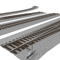 3d pack interchangeable track pieces: model