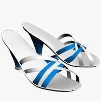 3d heel sandal model