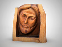 Jesus head sculpture
