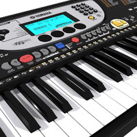 keyboard yamaha 3d model