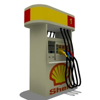3d shell pump gas station model