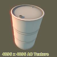 3ds max oil barrel