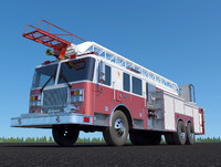 engine seagrave marauder ii 3d model