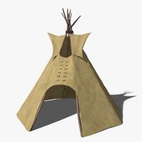 3d model of tipi tent