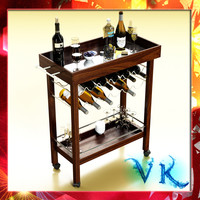 Wine Table 01, Bottles and Cups