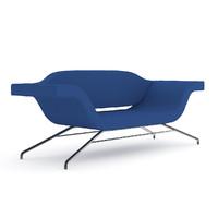 blue modern sofa 3d model