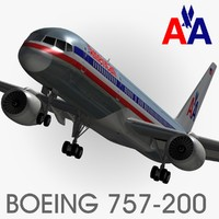3dsmax boeing 757-200 american airlines