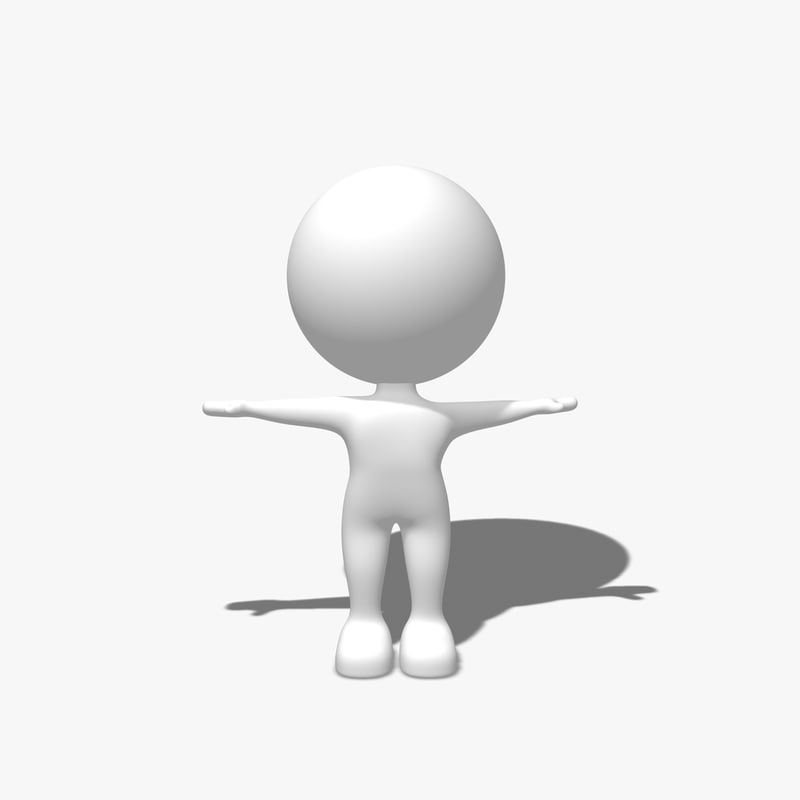 Simple character 3d model Simple 3d modeling online