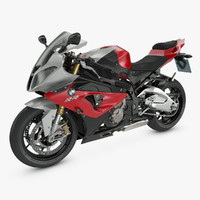 motorcycle bmw s1000rr 3d max
