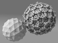 3d voronoi tesselation model