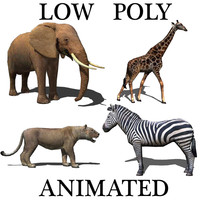 Low poly Savannah pack