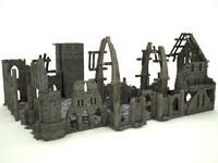 3d model ruin church