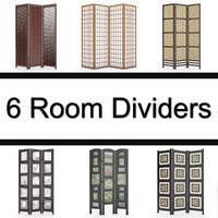 6 room divider 3d model