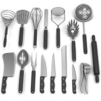 maya set kitchen tools
