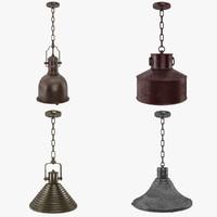 3d pendant lamp vintage